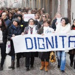 Le donne albesi in piazza
