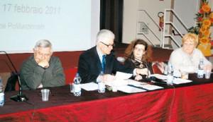 l'assessore Benito Mascarello, il sindaco Giovanni Bosco, la vicesindaco Paola Gallina e l'assessore Angela Oberto