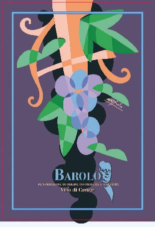 Barolo: l'etichetta di Ugo Nespolo