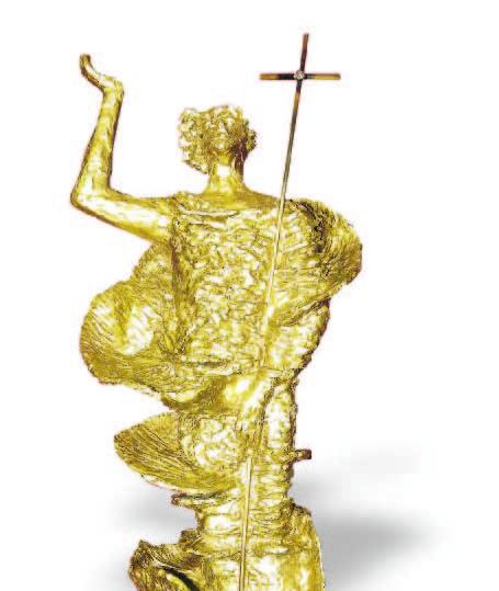 """Risurrezione"", una scultura di Salvatore Fiume."