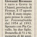 Bressano, in Famija dal 1955