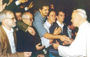 La visita ad Asti nel 1993
