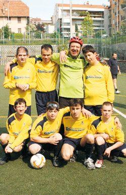 La squadra di calcio a 5 di SportAbili