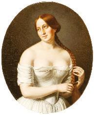 "Rosa Teresa Vercellana, la ""bella Rosina"" (Jean-Baptiste Bonjour, dal museo ""Massena"" di Nizza)."