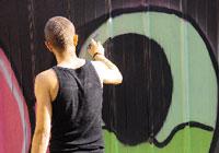 Street art in azione