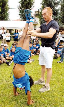 Juri Chechi allena i ragazzi