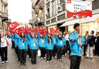 La squada turca: testimone delle Olimpiadi  passato a Bergama!