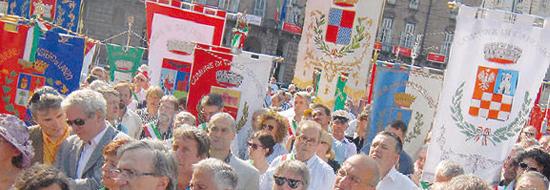 La manifestazione dei sindaci dei piccoli Comuni a Torino.