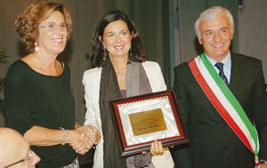 Laura Boldrini durante la premiazione