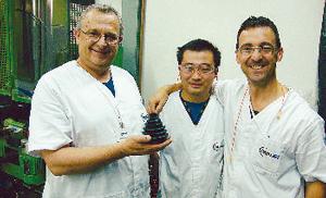Beppe Aloi con Claudio Coratto e un collega brasiliano