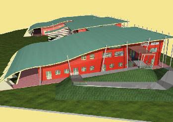 Nuova scuola media alla Moretta: una proiezione 3D del progetto