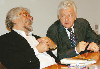 Alessandro Meluzzi (a sinistra) e Roberto Ponzio.