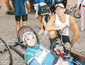 Farrugia con Francesca Fenocchio (foto Marcato)