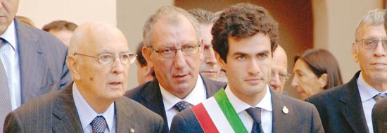 Il sindaco Chionetti con Giorgio Napolitano