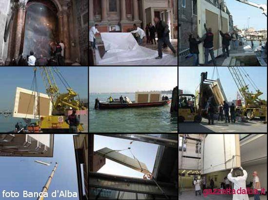 Alcune immagini del ritiro, imballo, movimentazione e trasporto del dipinto