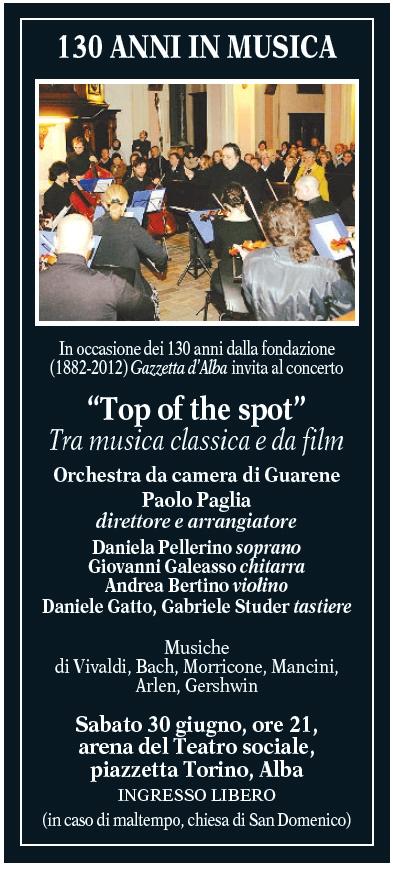 Il programma del concerto