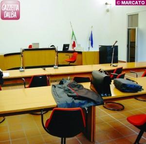 Un'aula del Tribunale di Alba
