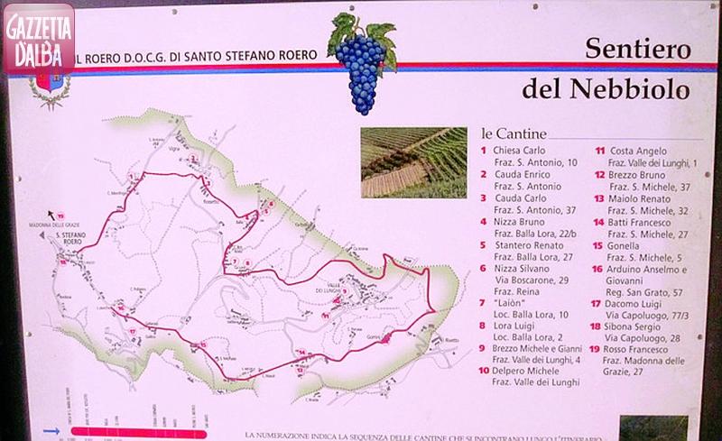 La cartina del sentiero
