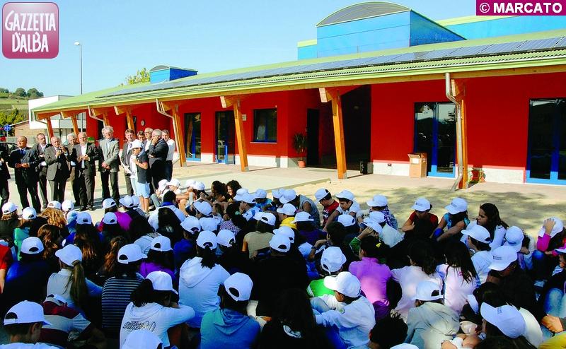 La scuola media di Mussotto dopo il restyling.