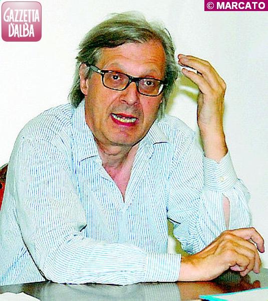Vittorio Sgarbi a Baldissero.