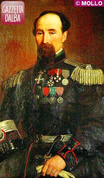Un ritratto del colonnello Martina esposto al Museo