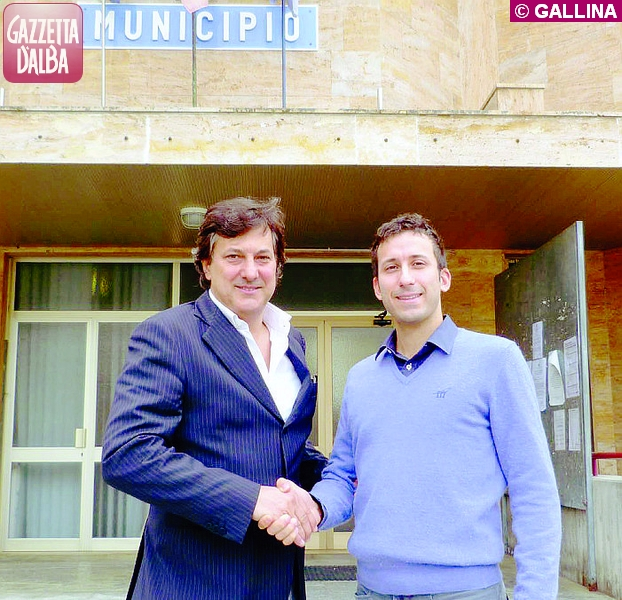 sindaco Luigi Icardi con pediatra Matteo Gaudino