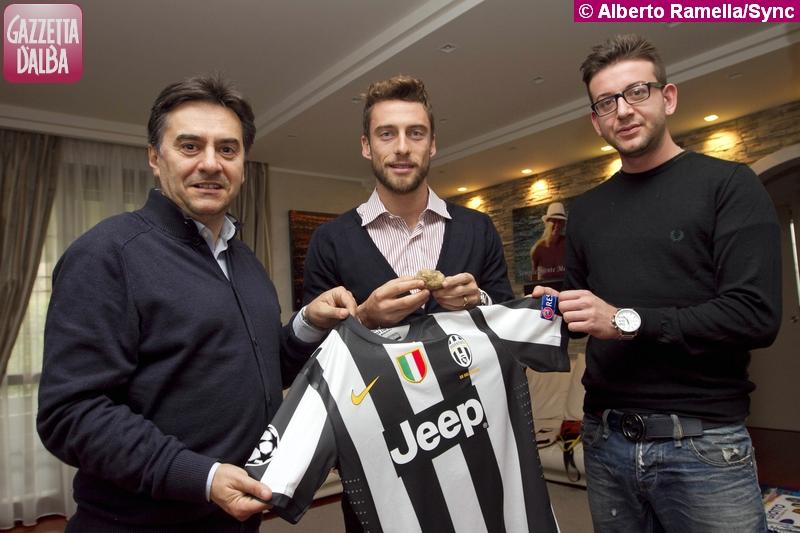 Da sinistra: Roberto Cerrato, Claudio Marchisio, Stefano Aprile