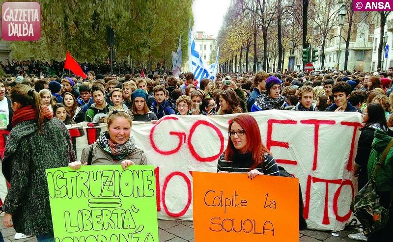 protesta scuola