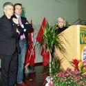 Da sinistra Nichi Vendola, Fabio Bailo, Bruna Sibille. Bra, 16.2.2013. Foto Pino Cramarossa