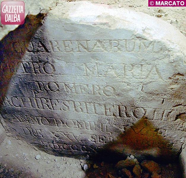 guarene lapide Pietro Maria Romero tomba