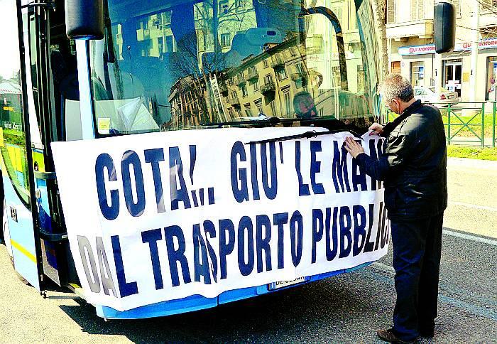 protesta trasporto pubblico