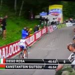 Giro d'Italia. Crono-scalata in Trentino: bene Diego Rosa, che chiude 33°
