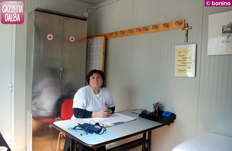 Palma Violi Palamara, infermiera, si occupa dell'ambulatorio.