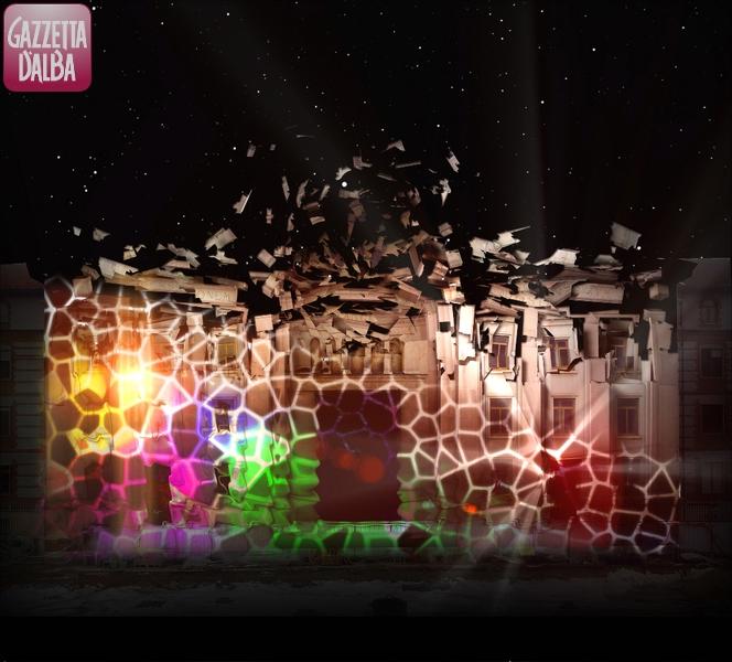Una simulazione dei giochi di luce sul Tempio di San Paolo