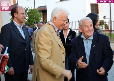 Guido Caccia, il procuratore di Torino Giancarlo Caselli e don Aldo Benevelli