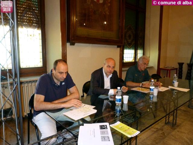 Da sinistra: Mauro Carbone, Maurizio Marello e il direttore di gara Guido Galliano