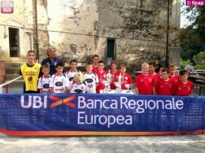 Le squadre finaliste della coppa Italia pulcini.