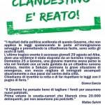 Lega Nord  in piazza contro l'abolizione del reato di immigrazione clandestina