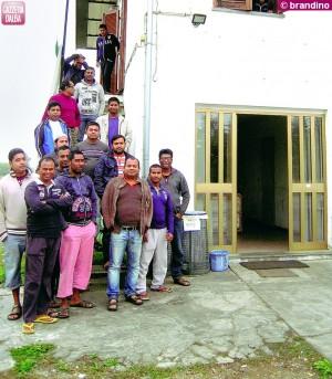 Le presse si sono fermate nello stabilimento di frazione Cappelli. A sostegno  dei lavoratori, soci della cooperativa Rubina, è intervenuta la Caritas.