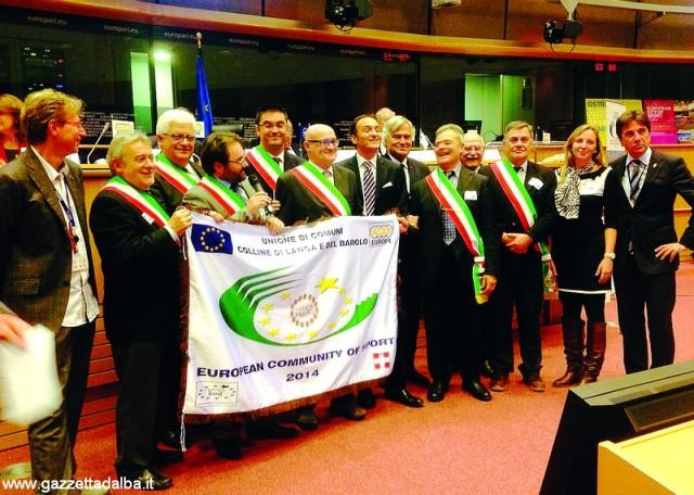 I sindaci a Bruxelles con l'assessore regionale Cirio e il presidente Aces Gian Francesco Lupattelli