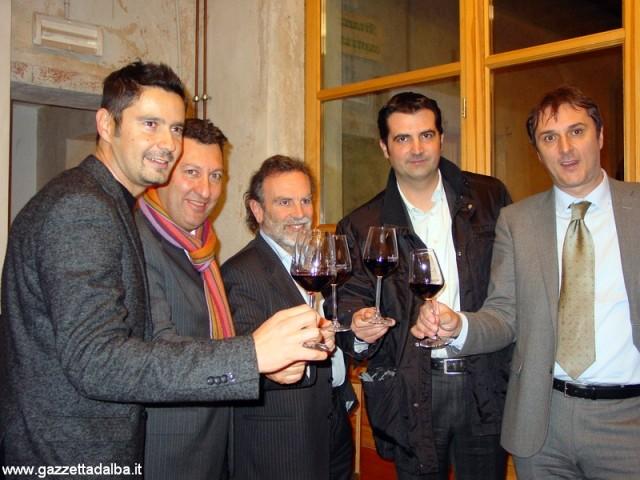 Da sinistra  Tinto, Porzio, Biestro, Sacchetto e Ferrero