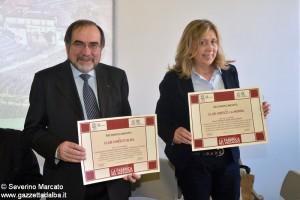 Vito Valsania e Rosanna Boglietti  presidenti club unesco