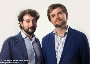 Il monticellese Filippo Margiaria, fondatore, con il braidese Paolo Giangrasso, di Aidìa.