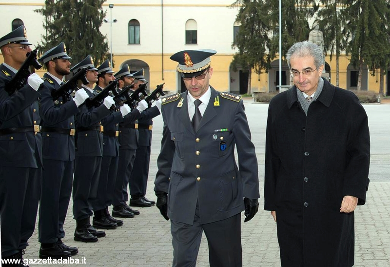 Il prefetto Giovanni Russo con il colonnello Francesco de Angelis.