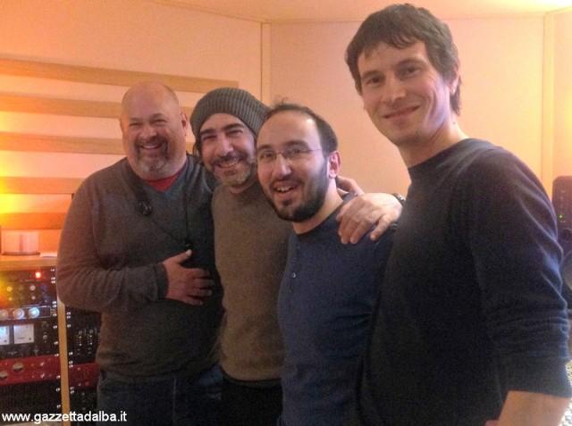 La formazione del disco Human being. Da sinistra: Michael Rosen, Davide Beatino, Filippo Cosentino e Carlo Gaia
