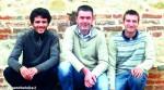 Da sinistra: Maurizio Penna, Tomas Hlavaty e Corrado Bolla, seminaristi della Diocesi di Alba