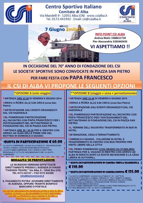 Locandina Papa – VIAGGIO 7 Giugno