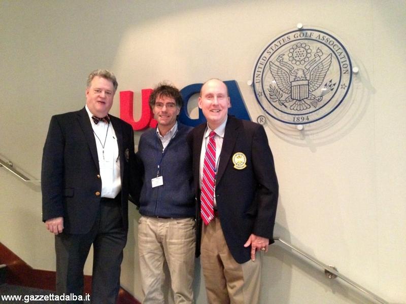 Corrado Graglia (al centro) con gli istruttori David Staebler e Mark Wilson.