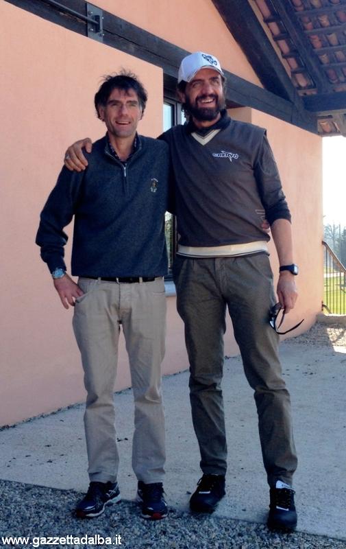 Corrado Graglia direttore del Golf club Cherasco e Valerio Staffelli