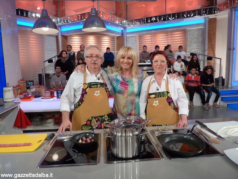 Mina e Gianni Filippetti con Antonella Clerici